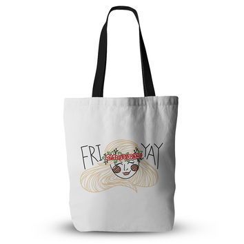 "Busy Bree ""Fri-Yay "" Yellow People Everything Tote Bag"