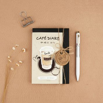 3 set/1 lot Retro Coffee diary Greeting Card Postcards Birthday Bussiness Gift Card Set Message Card  W-KP-1203