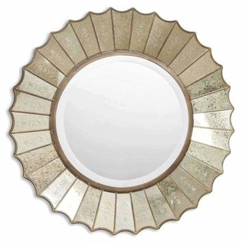 Amberlyn Sunburst Gold Mirror - Uttermost