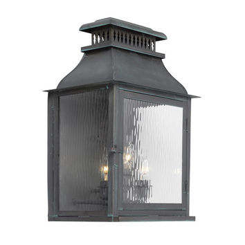 Elk Lighting 1301-OB Williams Towne Verde Patina Three Light Outdoor Sconce