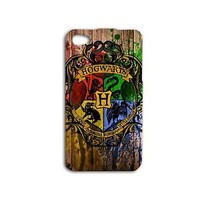 Wood Hogwarts Harry Potter Phone Case iPhone 4 4s 5c 5 5s 6 Plus Rubber Cover