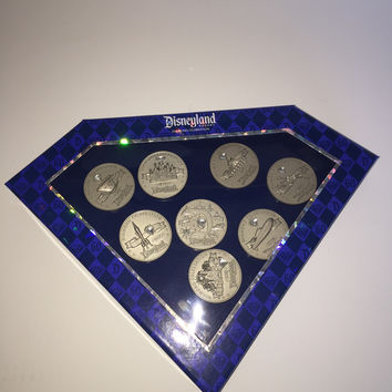 Disney Disneyland 60th Diamond Pin Set of 8 Boxed Limited Edition of 1000 New