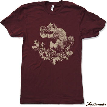 Mens Boxing SQUIRREL T Shirt american apparel S M L XL (16 Colors)