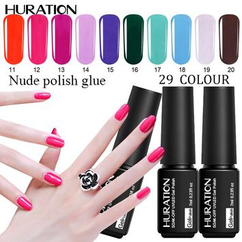 Huration 7ML Nail Gel Polish UV LED Lamp Soak-off  29 Colors Nail Polish Top And Base Coat Gel Varnish Nail Art