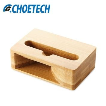 CHOETECH Phone Sound Amplifier Universal Bamboo Mobile Phone Holder Stand Cellphone Wood Loudspeaker