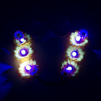 Customizable LED Daisy Rave Flower Crown, LED Flower Crown, Coachella, Electric Daisy Carnival, SnowGlobe Music Festival, Fun Fun Fun Fest