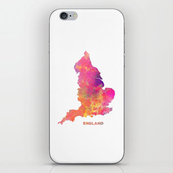 England map #england #map #englandmap iPhone & iPod Skin by jbjart