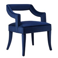 Tiffany Navy Velvet Chair