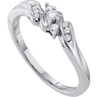 Diamond Promise Ring in 10k White Gold 0.1 ctw