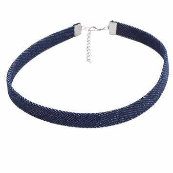 Meli Denim 90s Choker Necklace