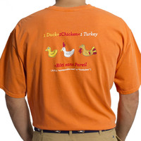 Beach Tee Burnt Orange Rubber Turducken
