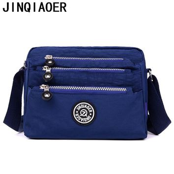 Fashion  Womens messenger bags Waterproof Nylon purses and Handbags Female Crossbody Bags  style shoulder hand bags