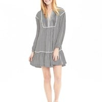 Striped Drop-Waist Shirtdress | Banana Republic