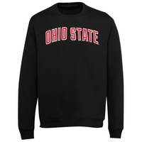Ohio State Buckeyes Embroidered Premium Crew Pullover Sweatshirt – Black