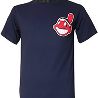 Cleveland Indians Majestic Cool Base CREW NECK Officially Licensed MLB Baseball SHIRT JERSEY SIZE-YOUTH MEDIUM