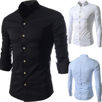 Designer Collar Men Fashion Slim Fit Dress Shirt