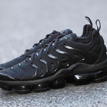Nike Air Max Tn Vapormax Plus Triple Black 924453 004 Sport Running Shoes Sale