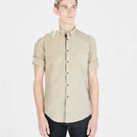 Long sleeve placket cotton shirt