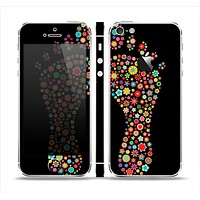 The Vector Floral Feet Icon Collage Skin Set for the Apple iPhone 5