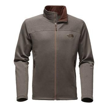 Men's Needit Full Zip Fleece Pullover in Falcon Brown Heather by The North Face - FINA