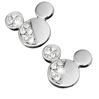 Mickey Mouse Icon Half Crystal Earrings by Arribas | Disney Store