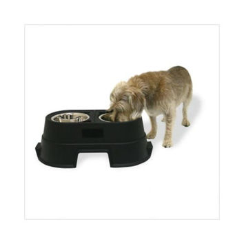 Our Pets SFL08BLK Healthy Pet Diner Elevated Dog Feeder