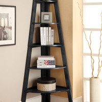 Louisa Contemporary Display Shelf in Black