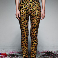 GOLD LEOPARD SEQUIN PANTS PRE-ORDER 'RUNWAY COLLECTION'