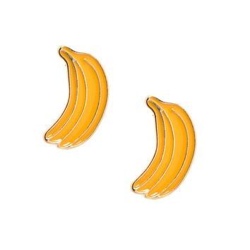Yummy Yellow Banana Stud Earrings