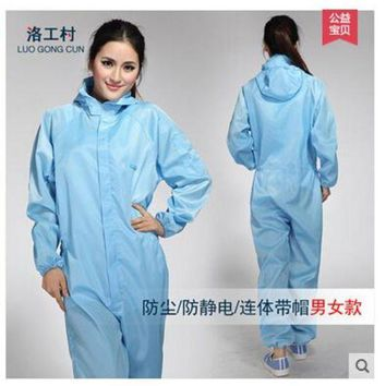 ESBONFI Jumpsuit Antistatic clothing garment of clean room Spray painting work clothes Clean clothes
