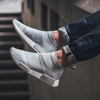 Fashion Online Adidas Nmd City Sadidas Nmd City Sock Pk Gray White Stripes Casual Sports Shoesock Pk Gray White Stripes Casual Sports Shoes