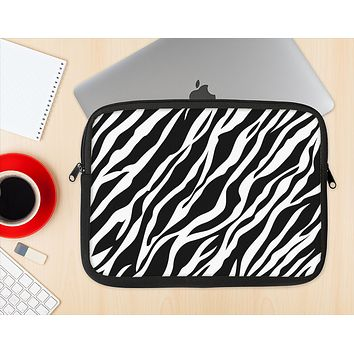 The Simple Vector Zebra Animal Print Ink-Fuzed NeoPrene MacBook Laptop Sleeve