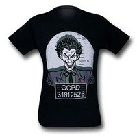 Joker Mugshot Black T-Shirt