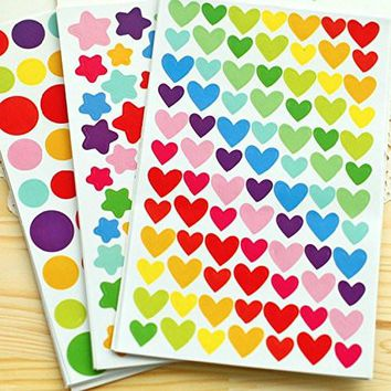 PuTwo Stickers Pack of 1200 Reward Stickers Craft Stickers Coding Label for Scrapbook – 18 Sheets601420326970
