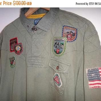 Hot sale rare Polo Ralph Lauren Polo Mountain Expedition Rugby Long Sleeve Polo Sport