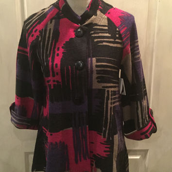 Swing Jacket With Multicolor  Print
