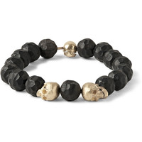Luis Morais - Gold and Ebony Bead Bracelet | MR PORTER