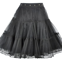 Vintage Tripp NYC Black Tulle Tiered Skirt Small
