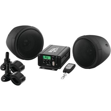 Boss Audio 600-watt Motorcycle And Atv Sound System With Fm Tuner & Bluetooth (black)