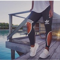 "Adidas"" Female Sweatpants Leisure Leggings"