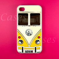 Iphone 4 Case - VW Minibus Yellow Iphone Case,Iphone 4s Case