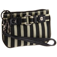 Sydney Love Stripe Collection Key Chain,Khaki/Black,One Size