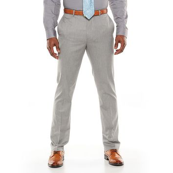 Marc Anthony Slim-Fit Herringbone Gray Suit Pants