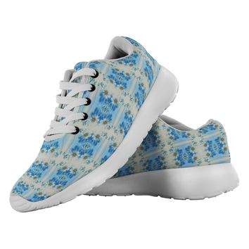 Blue Floral Made to Order pair of the Best Running Shoes