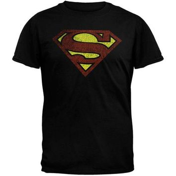 DCCKU3R Superman - Distressed Logo T-Shirt