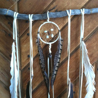 sticks and stones... a bohemian dream catcher // altar, spirit tribe, holiday gift, black friday, ready to ship,