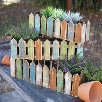 Set of 3 Wooden Picket Fence Planters