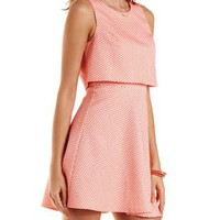 Layered Jacquard Skater Dress by Charlotte Russe