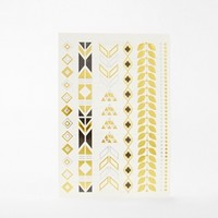 Orelia Patten Metallic Temporary Tattoo