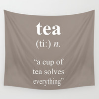 Tea Wall Tapestry by Cafelab